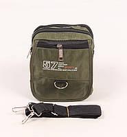 Мужская зеленая сумка через плечо