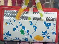 Пляжный коврик -сумка соломенный +фольга 160 cм X 92 см S674