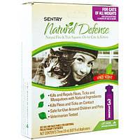 SENTRY НАТУРАЛЬНАЯ ЗАЩИТА (Natural Defense) капли от блох и клещей для кошек всех пород (2мл) 1пипетка