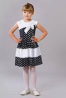 Очень красивое детское платье в горошек
