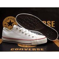 Кеды мужские Converse White в белом цвете низкие