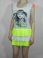 Короткие трикотажные платья летние размер 42-50 4 расцветки Украина