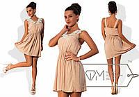 Женское платье на резинке с кружевами 42-46