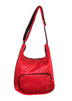 Женская сумка красная стеганая