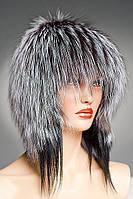 Меховая шапка Ушки из Чернобурки