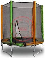 Детские батуты МВМ 183 см. с защитной сеткой RS-22.  Модель КОМБО. Kidigo