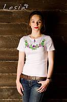 Жіноча вишиванка Вінок Дунаю фіолет на білому
