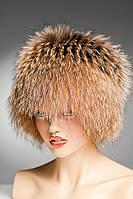 Меховая шапка Кубанка из Енота (песочная)