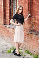 Молодежная юбка 7159 бежевый, фото 1
