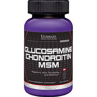 ДЛЯ СУСТАВОВ И СВЯЗОК Ultimate Nutrition Glucosamine and chondroitin + msm 90 таб