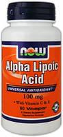 Антиоксиданты NOW Alpha lipoic acid 100 mg 60 капс