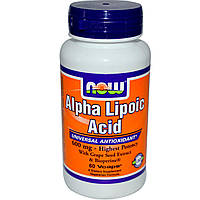 Антиоксиданты NOW Alpha lipoic acid 250mg 60 капс