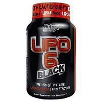 Жиросжигатели, Липотропики Nutrex Lipo-6 black 120 капс
