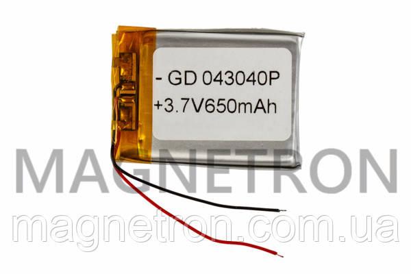 Аккумулятор литий-полимерный GD 043040P 3,7V 650 mAh 30x40mm, фото 2