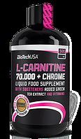 Карнитин, L-карнитин, L-Carnitine BioTech L-carnitine 70.000 + chrome 500 мл  апельсин