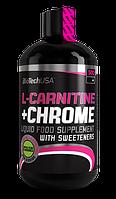 Карнитин, L-карнитин, L-Carnitine BioTech L-carnitine + chrome 500 мл  апельсин