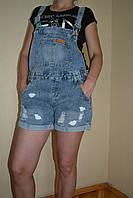 Шорты-комбинезон женский джинсовый лето