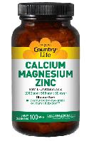 ДЛЯ СУСТАВОВ И СВЯЗОК Country life Calcium, magnesium, zinc (кальций, магний, цинк) 250 таблеток