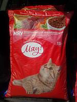 Мяу! сухой корм для котов рыбный 11 кг