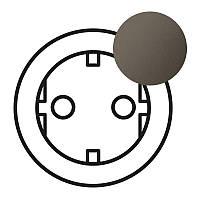Legrand Celiane Лицевая панель розетки 2К+З немецкого стандарта (безвинтовой/винтовой зажим) Графит (67931)