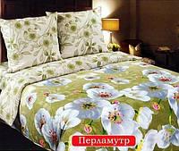Комплект постельного белья двуспальный, поплин Перламутр