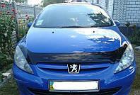 Дефлектор капота (мухобойка) Peugeot 307 2001-2005/до рестайлинга