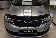 Дефлектор капота (мухобойка) Skoda Rapid sd 2012-