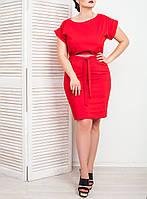 """Модное красное платье """"Кира"""" от 48 по 54 размеры"""