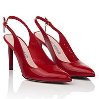 Босоножки женские Bravo Moda (элегантные, красного цвета, классический дизайн, изысканные, на шпильке)