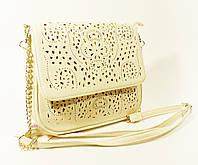 Летний кружевной клатч - сумочка бежевая Valensiy 810450
