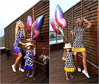 Комплект платьев для мамы и дочки мод.102