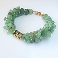 Браслет из зелёного нефрита + подарок BD7009