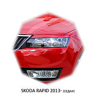 Реснички на фары Skoda RAPID 2013+ г.в. (седан)  Шкода Рапид