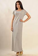 Летнее платье в пол из мягкого трикотажного хлопка