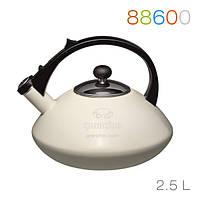 Эмалированный чайник со свистком Cosmico Avorio Bollitore, 2,5л Granchio 88600