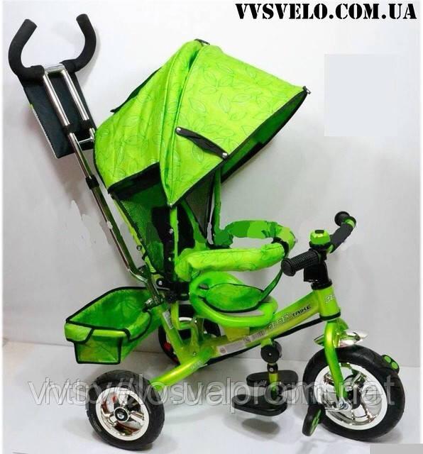 Велосипед детский с ручкой azimut trike bc 17