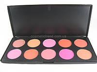 Палитра для макияжа профессиональная  (10 цветов румян) Н10