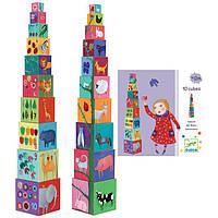 Пирамидка Djeco Забавные кубики «Животные»