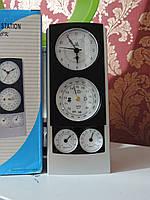 """Метеостанция домашняя настольная """"Pearl"""" (Жемчужина). Часы с будильником, барометр, термометр и гигрометр."""