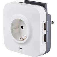 Розетка 2К+З 16 А с УЗИП и USB разъемами Legrand 694671
