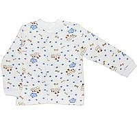 Детская кофта  (Белый с синим, собачки)