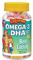 L'il Critters® - натуральные витамины с Омега-3 для детей 60 штук