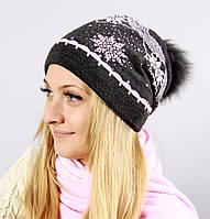 Модная шапка с пышным помпоном, фото 1