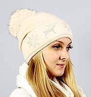 Зимняя вязанная шапка