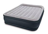 Надувная кровать с поддерживающей системой и подголовником Intex Интекс 152х203х43 см