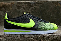 Кроссовки Nike Cortez 2015 (Black/Green)