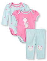 Красочный комплект для девочки на 6-9 мес The Children'sPlace (США)