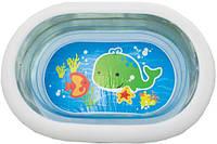 Надувной прозрачный  бассейн детский с клапаном для слива Intex 163х107х46 см