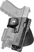 Кобура Fobus для Glock-19/23 с подствольным фонарем, поясной фиксатор ц:black