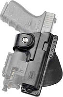 Кобура Fobus для Glock-17/22 с подствольным фонарем, поясной фиксатор ц:black